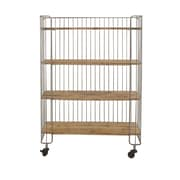 Cole & Grey Metal and Wood Storage Utility Cart