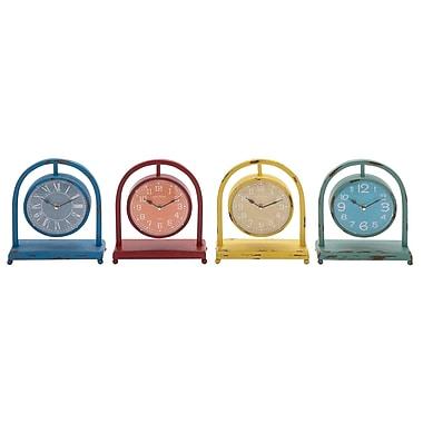 Cole & Grey 4 Piece Desk Clock Set