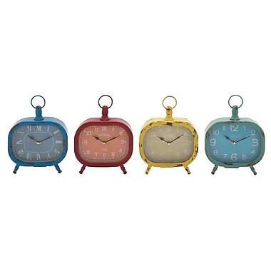 Cole & Grey 4 Piece Desk Clock Set (Set of 4)