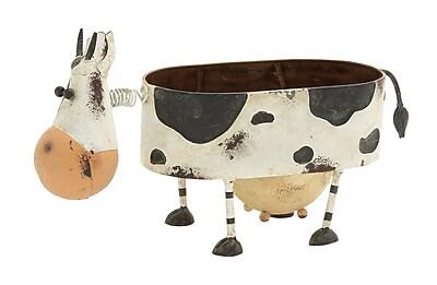 Cole & Grey Cow Iron Pot Planter