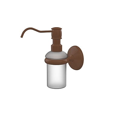 Allied Brass Monte Carlo Wall Mounted Soap Dispenser; Antique Bronze