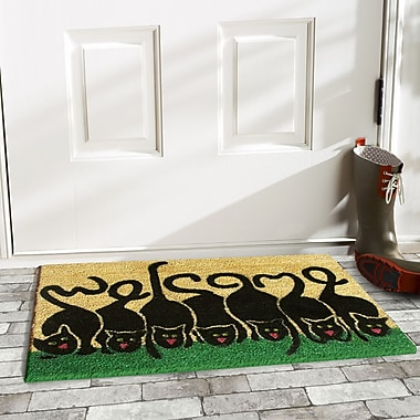 Wildon Home Cats Welcome Doormat