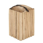 Cole & Grey Teak Branch Square Accent Stool