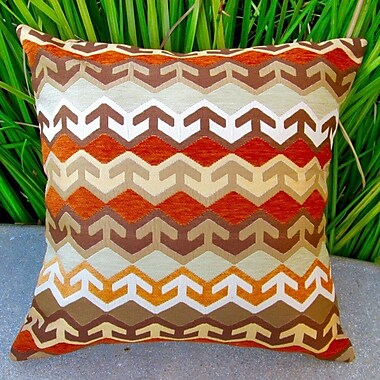 Artisan Pillows Geometric Arrow in Southwestern Country Cabin Indoor Pillow Cover; Orange