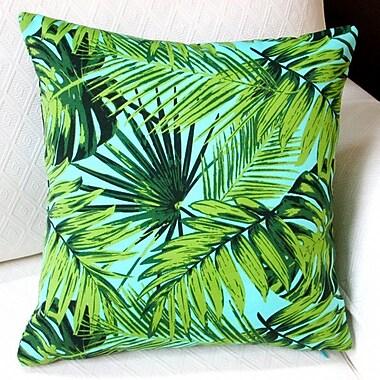 Artisan Pillows Tropical Fronds Modern Coastal Beach Hawaiian Indoor/Outdoor Pillow Cover (Set of 2)