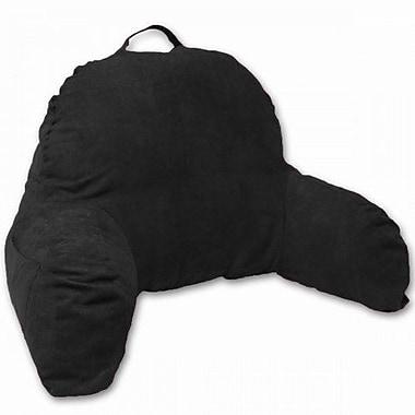 Deluxe Comfort Microsuede Bedrest Pillow; Black