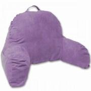 Deluxe Comfort Microsuede Bedrest Pillow; Light Purple