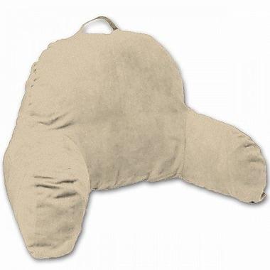 Deluxe Comfort Microsuede Bedrest Pillow; Taupe