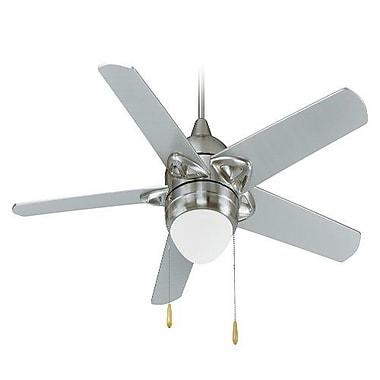 Royal Pacific 52'' 5-Blade Fan; Brushed Nickel