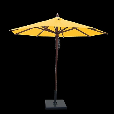 Greencorner 9' Market Umbrella; Sunflower Yellow