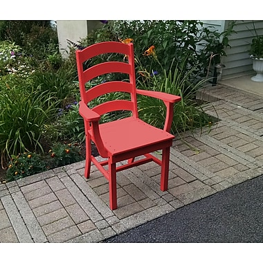 Red Barrel Studio Nettie Ladderback Dining Arm Chair; Bright Red