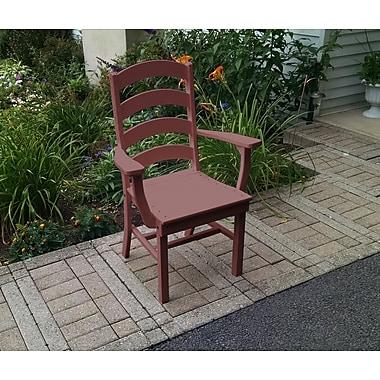 Red Barrel Studio Nettie Ladderback Dining Arm Chair; Cherrywood