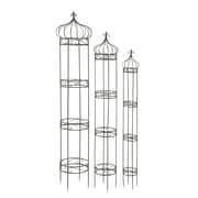 Cole & Grey 3 Piece Metal Obelisk Trellis