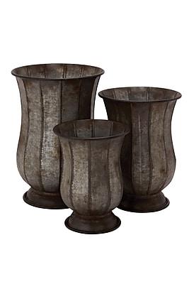 Cole & Grey 3-Piece Iron Urn Planter Set