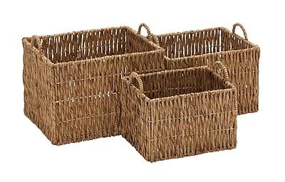 Cole & Grey 3 Piece Seagrass Basket Set