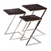 Cole & Grey 3 Piece Nesting Table Set
