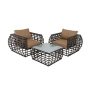 Cole & Grey 3 Piece Deep Seating Group w/ Cushions