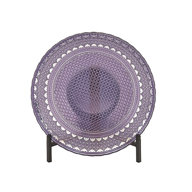 Cole & Grey Glass w/ Metal Stand Decorative Bowl