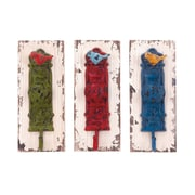 Cole & Grey Wood and Metal Wall Hook (Set of 3)