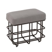 Cole & Grey Metal Fabric Foot Stool