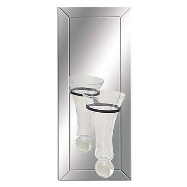 Cole & Grey Wood Mirror Wall Vase