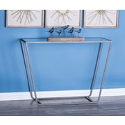 Cole & Grey Metal/Glass Console Table