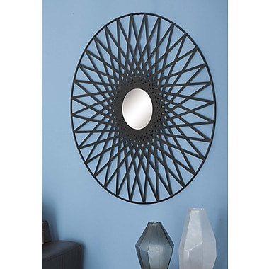 Cole & Grey Metal Mirror Wall D cor