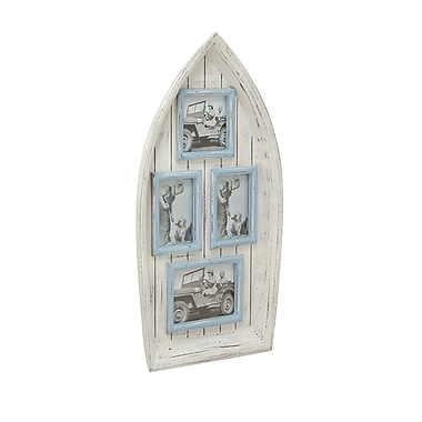 Cole & Grey Wood Boat Wall Photo Frame