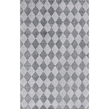 Dynamic Rugs Symphony Hand-Tufted Silver/Gray Area Rug; 5' x 8'