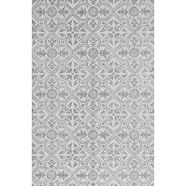 Ophelia & Co. Galen Handmade Wool Gray Area Rug; 8' x 11'