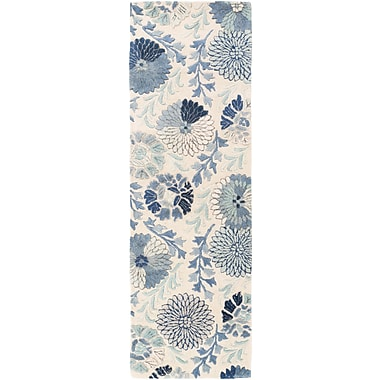 Darby Home Co Keith Cobalt Floral Area Rug; Runner 2'6'' x 8'