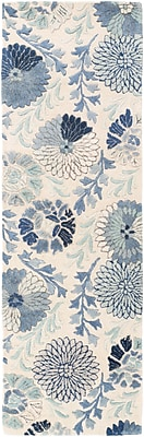 Darby Home Co Keith Cobalt Floral Area Rug; 2' x 3'