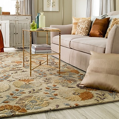 Darby Home Co Keith Beige Floral Area Rug; 3'3'' x 5'3''