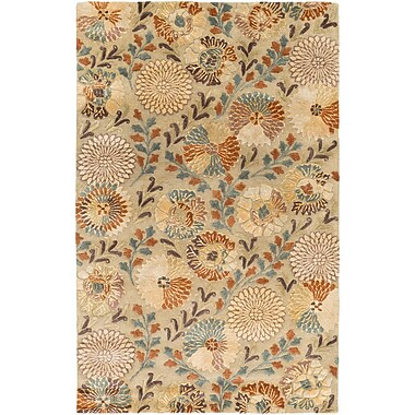 Darby Home Co Keith Beige Floral Area Rug; 5' x 8'