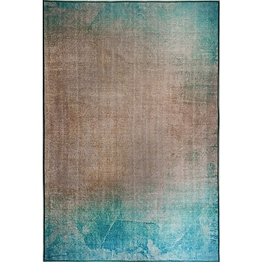 Dynamic Rugs Illusion Turquoise/Beige Area Rug; 6'2'' x 9'6''