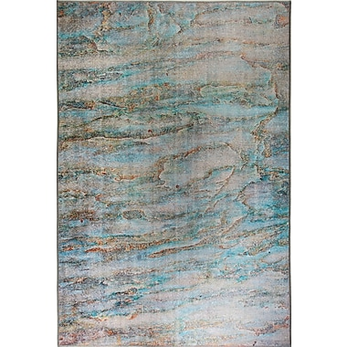 Dynamic Rugs Illusion Turquoise Area Rug; 5'3'' x 7'7''