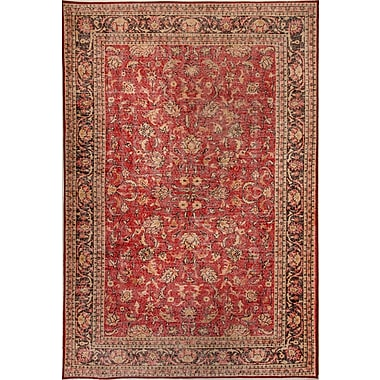 Dynamic Rugs Illusion Red Area Rug; 2'1'' x 3'6''