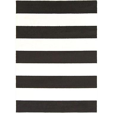 Latitude Run Greer Black/Cream Area Rug; 9'3'' x 12'6''