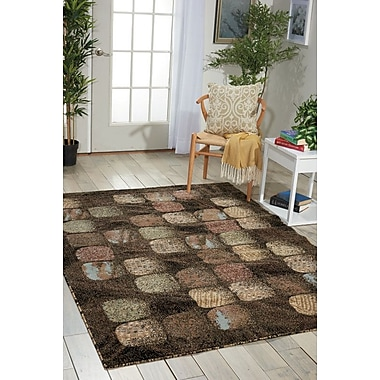 Red Barrel Studio Duke Black/Brown Area Rug; Rectangle 3'11'' x 5'3''