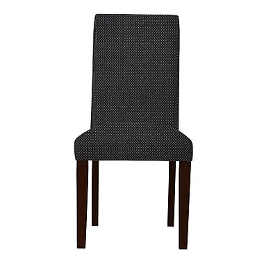 Maison Domus Home Carrie Parsons Chair (Set of 2); Dark Gray
