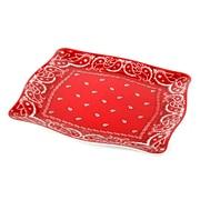 Encore Concepts Bandana Square Melamine Platter