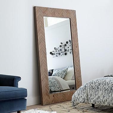 Corrigan Studio Chevron Wood Framed Mirror