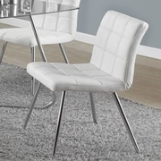 Latitude Run Amber Upholstered Side Chair; White