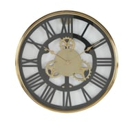 Cole & Grey Stainless Steel 18'' Wall Clock