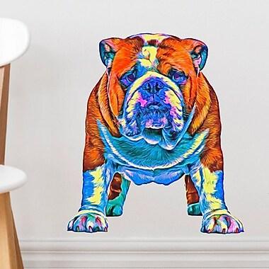 My Wonderful Walls Bulldog Wall Decal; 10'' H x 8.75'' W