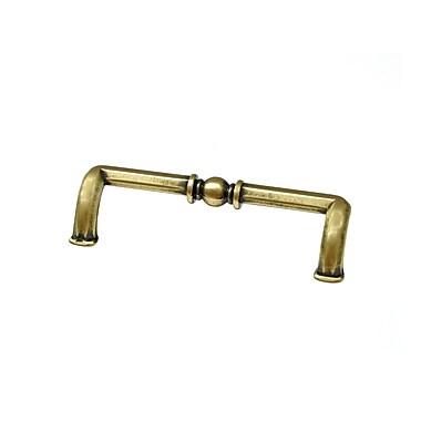 Richelieu 3 7/9'' Center Bar Pull; Floral Brass