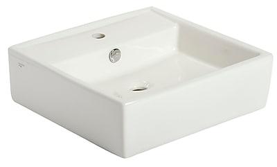 Mansfield Razionale Square Vessel Bathroom Sink w/ Overflow