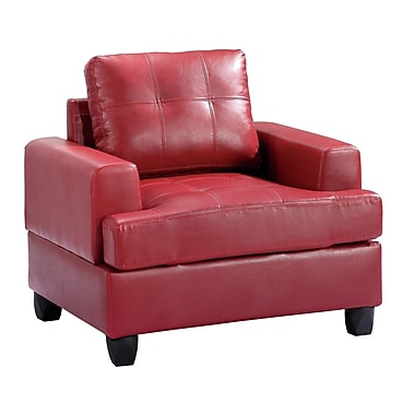 Red Barrel Studio Adamsburg Arm Chair; Red