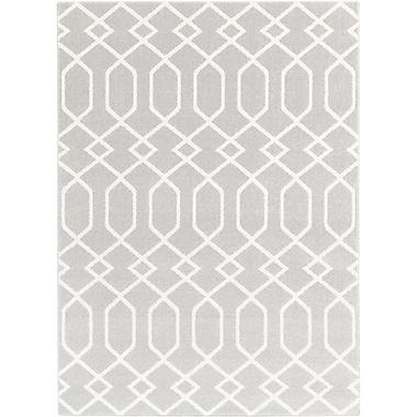 Willa Arlo Interiors Siclen Gray/Ivory Area Rug; 9'3'' x 12'6''