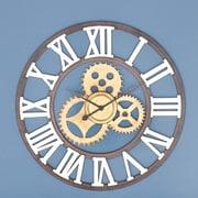Cole & Grey Oversized Metal 30'' Wall Clock